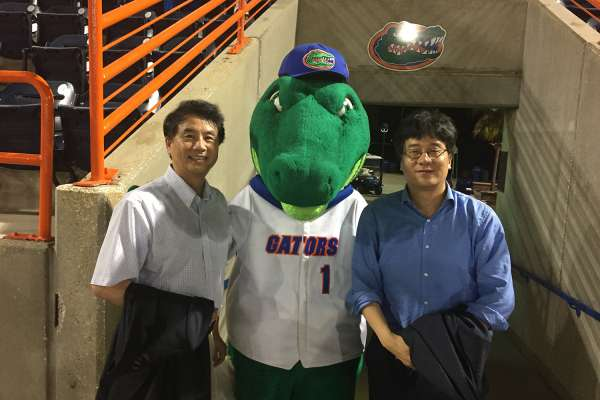 2018 UF College of Medicine Celebration of Research keynote and guest speakers attending UF Baseball vs. FAU on February 20, 2018